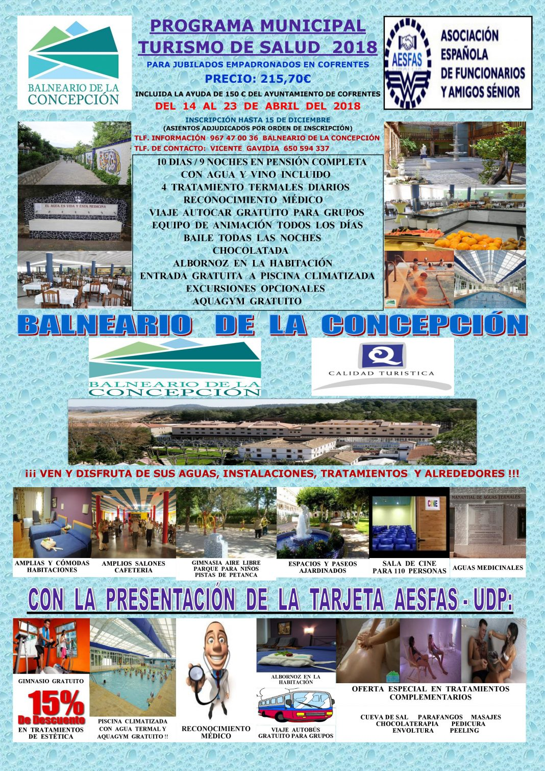Programa Municipal de Turismo de Salud de Cofrentes 2018