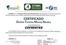 Cofrentes obtiene el certificado de DESTINO TURISTICO MARCHA NÓRDICA