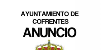 Anuncio sobre convocatoria de Agentes de Policia Local en Cofrentes
