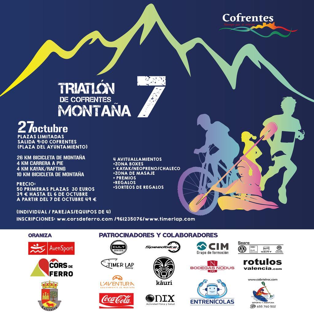 El VII Triatlón de Montaña de Cofrentes se celebrará el 27 de Octubre